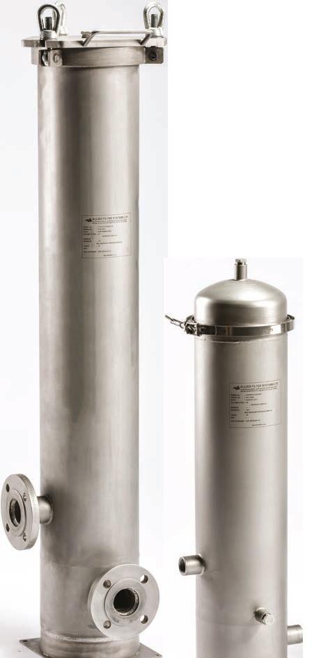 Patronfilterhus rostfritt stål CH & CHD - Allied Filter Systems