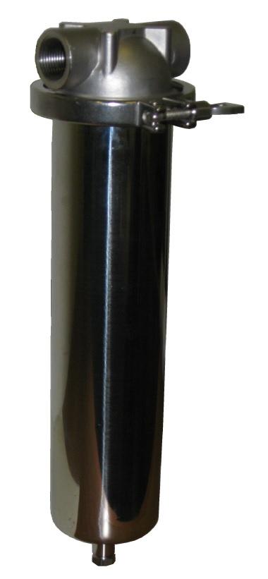 Patronfilterhus rostfritt stål LV1SS- Allied Filter Systems